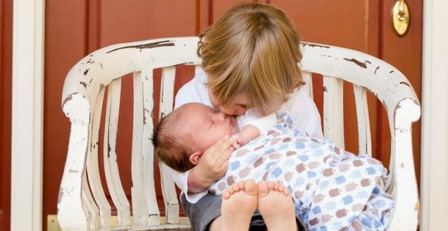 siblings, second child, raising children, new born