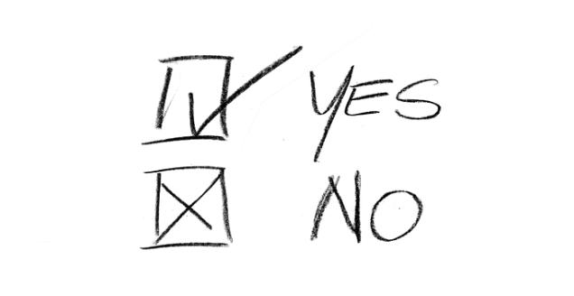 Yes No choice