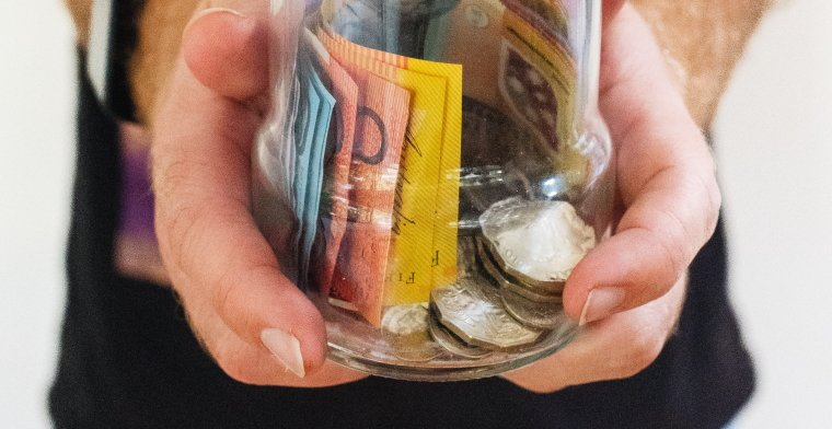 photo of Australian money in a jar