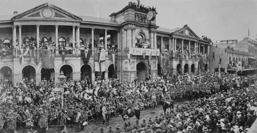 First Anzac day parade